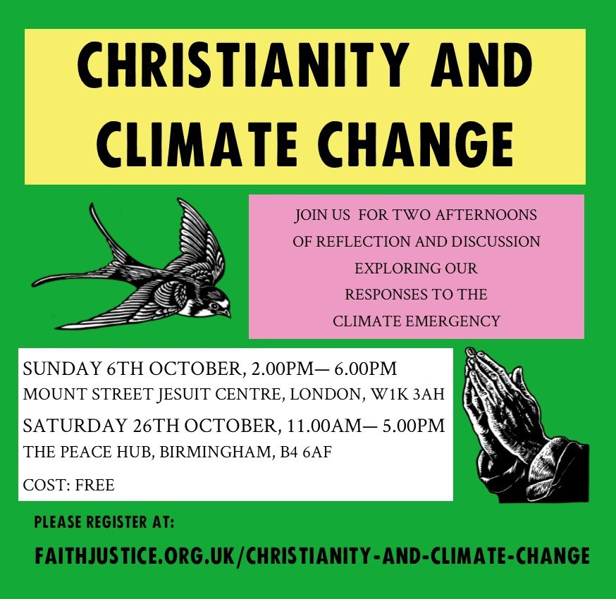 FaithJustice invite: Response to the Climate Emergency (London