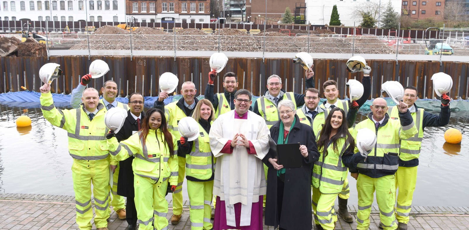 St Joseph welcomes neighbours from St Chad's Cathedral at development blessing