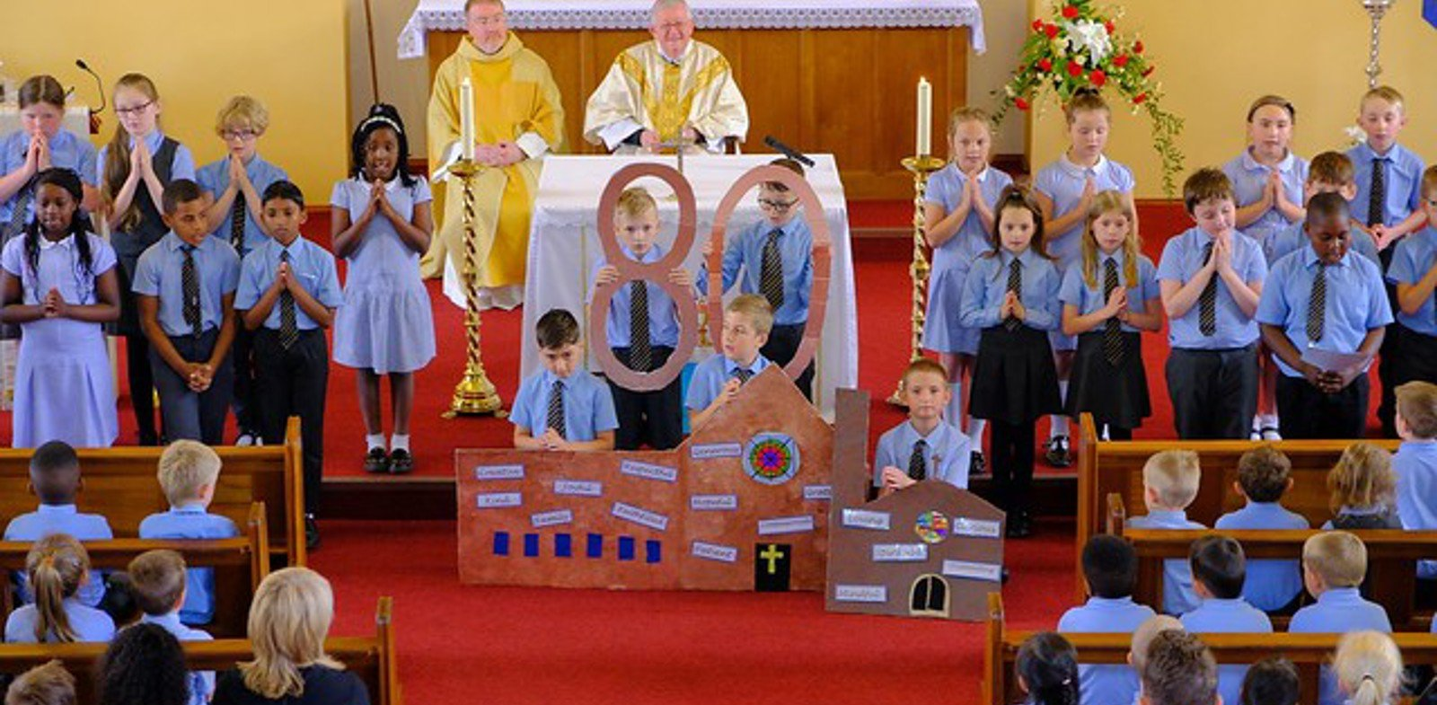 School and parish join forces for milestone anniversary