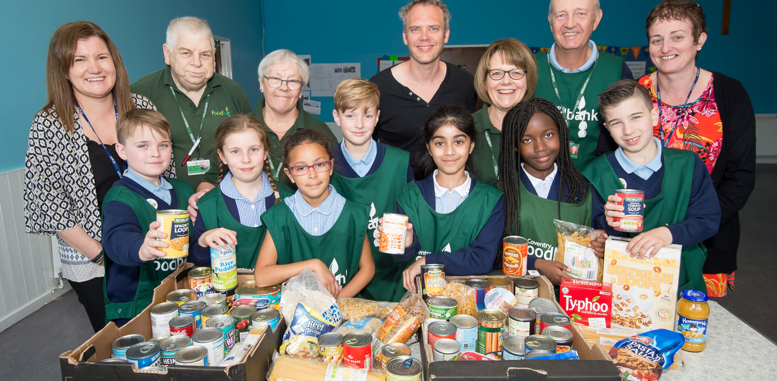 Coventry school children present bumper donation to foodbank