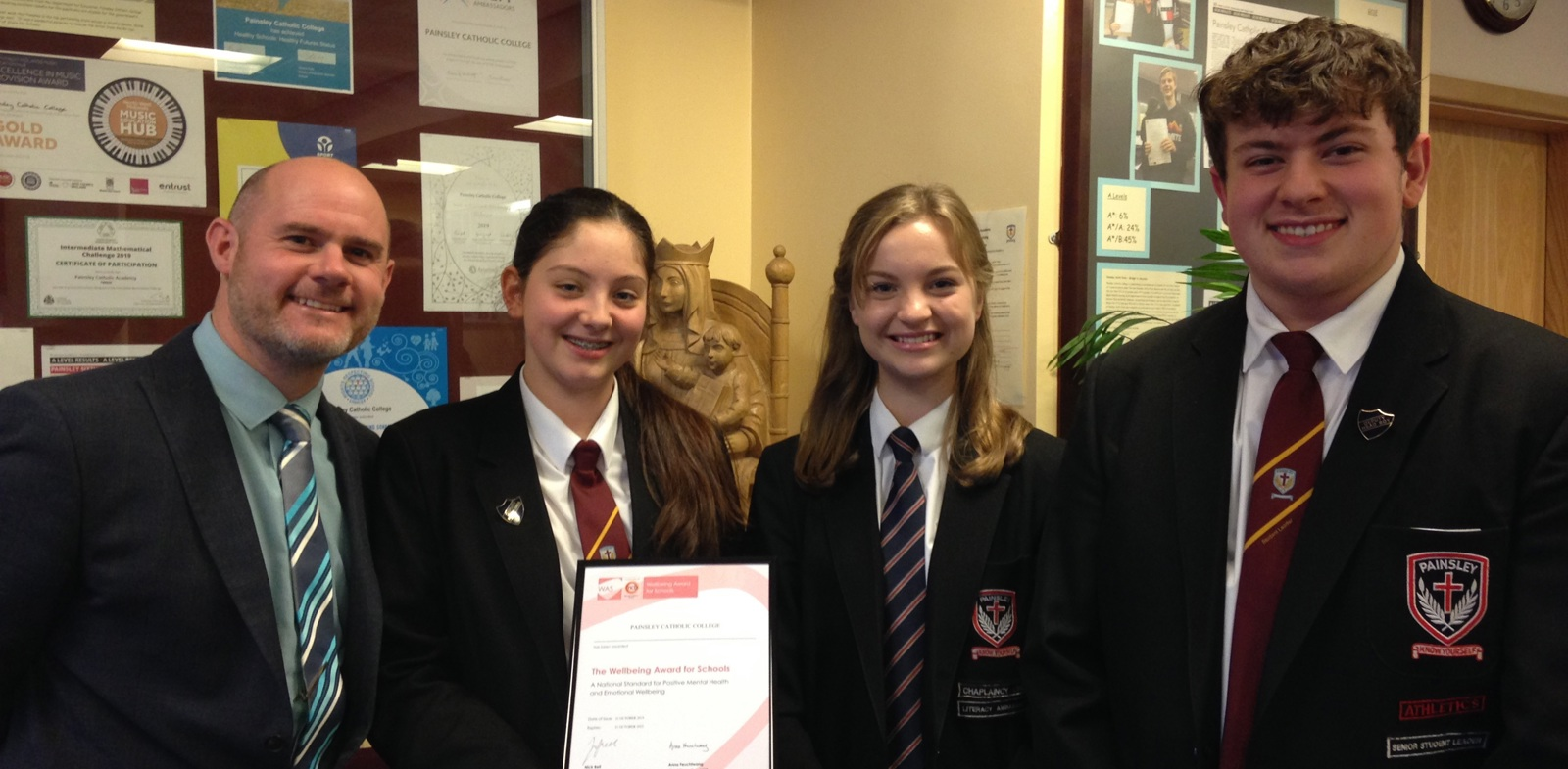 Wellbeing Award for Staffordshire school